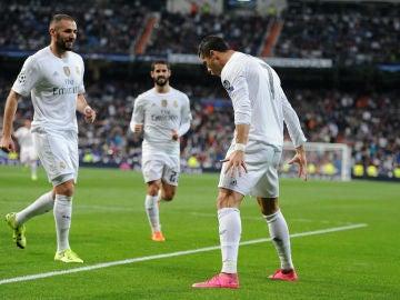 Cristiano celebra un gol ante el Shakthar