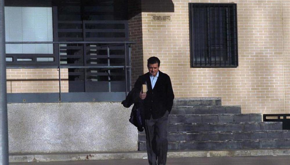 Jaume Matas al salir de los juzgados de Palma