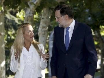 Lilian Tintori y Mariano Rajoy