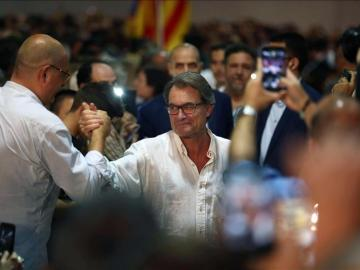 Artur Mas en un acto de Junts Pel Sí