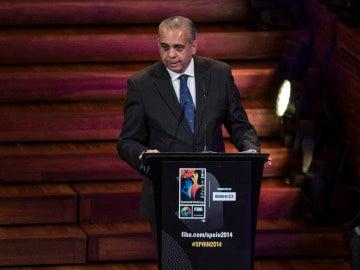 José Luis Sáez, durante una intervención