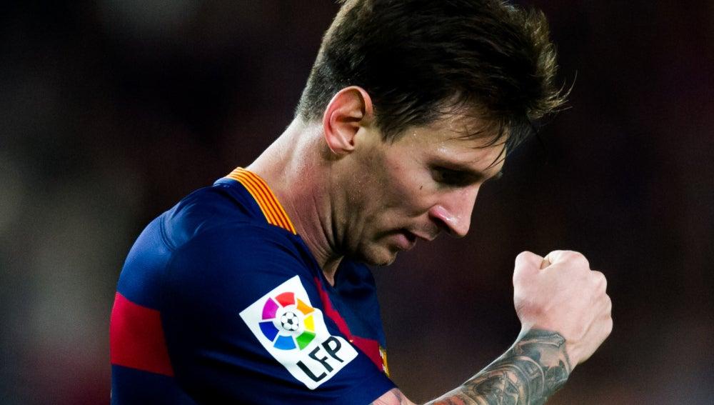 Leo Messi, durante un encuentro con el F.C Barcelona
