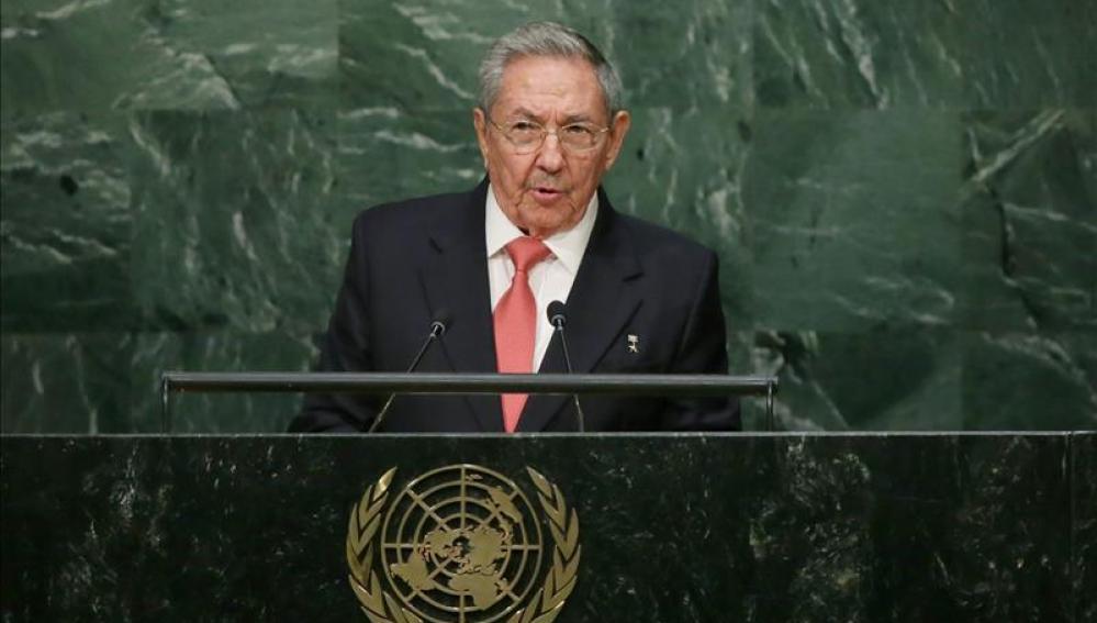 El presidente cubano Raúl Castro, durante su primera comparecencia en las Naciones Unidas