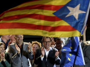 Artur Mas celebra el resultado de Junts Pel sí