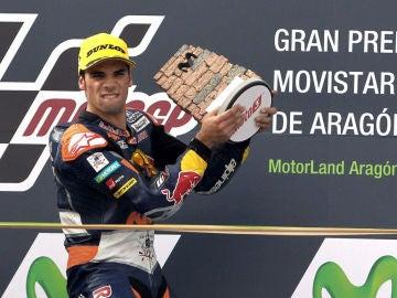 Oliveira, en el podio de Motorland