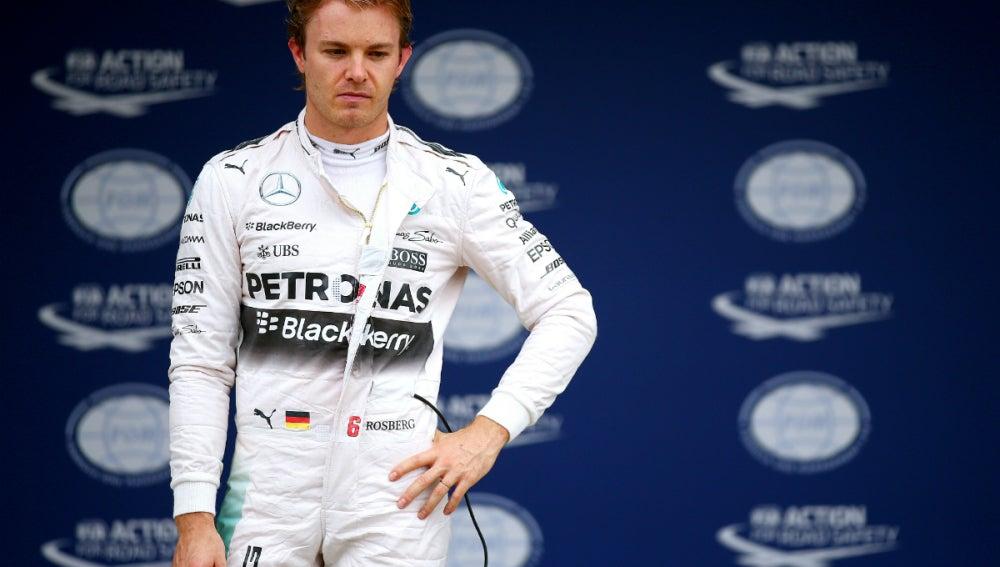 Rosberg, con cara de circunstancias