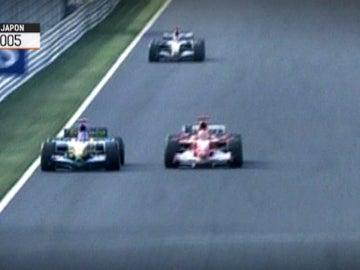 Adelantamiento de Alonso a Schumacher en la 130R