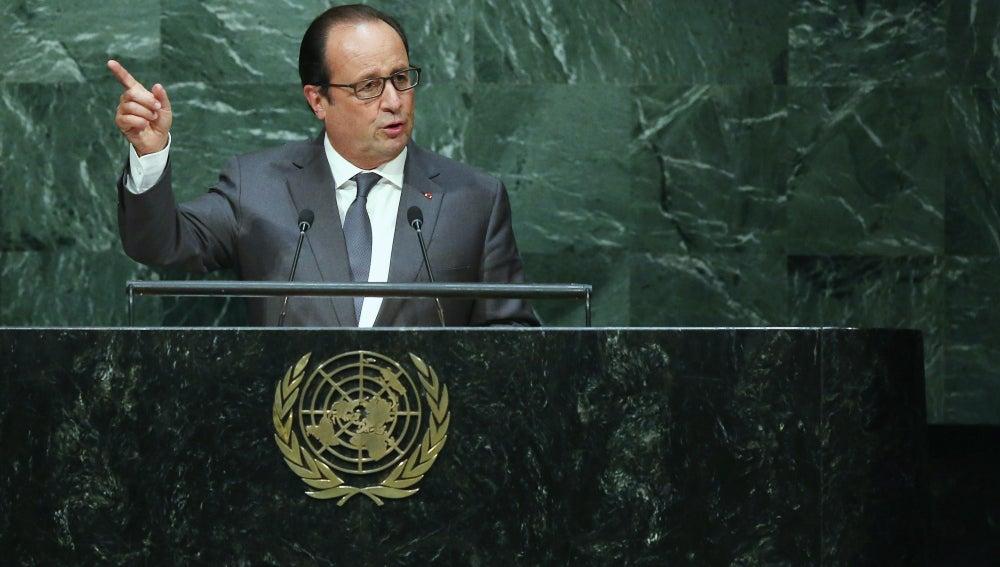 El presidente de Francia, François Hollande, en la Asamblea general de la ONU