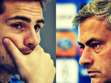 Iker Casillas y Jose Mourinho