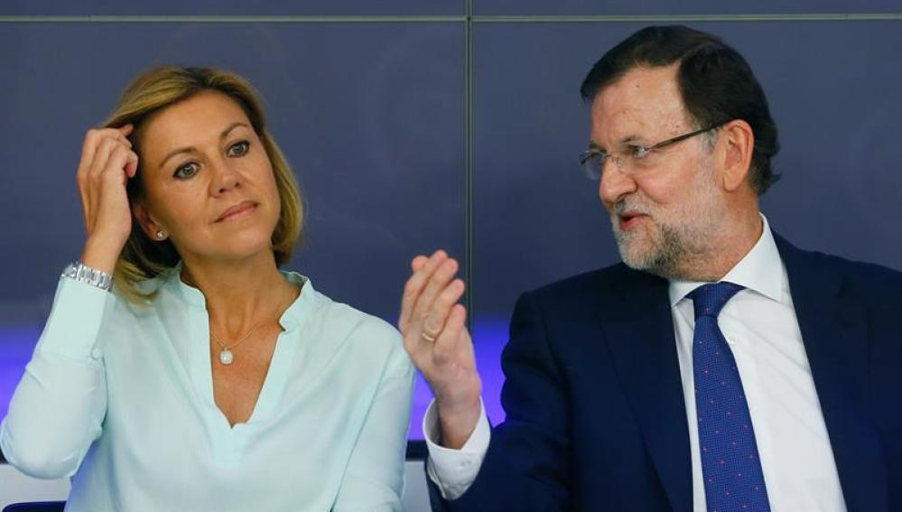 Mariano Rajoy, junto a María Dolores de Cospedal