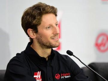 Grosjean, en la rueda de prensa de Haas F1 Team