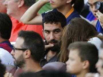 Arda Turan, en un partido del Barça