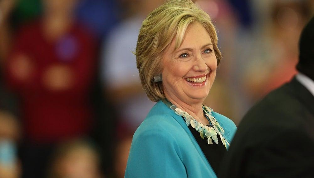 La precandidata demócrata a la presidencia de EEUU, Hillary Clinton