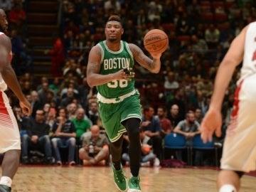 Los Celtics, en acción en Milán