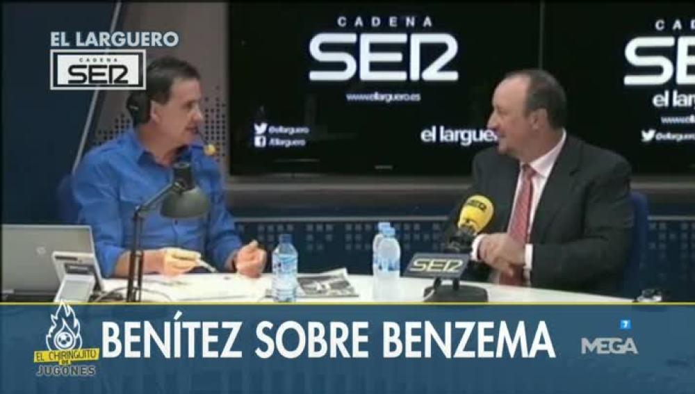 Rafa Benítez habla de Benzema en 'El Larguero'.