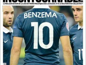 Portada de L'Equipe sobre Benzema