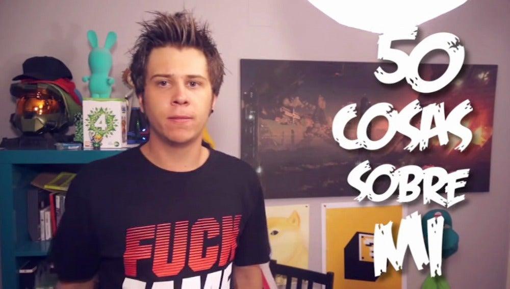 El 'youtuber' Rubius en un vídeo de su canal
