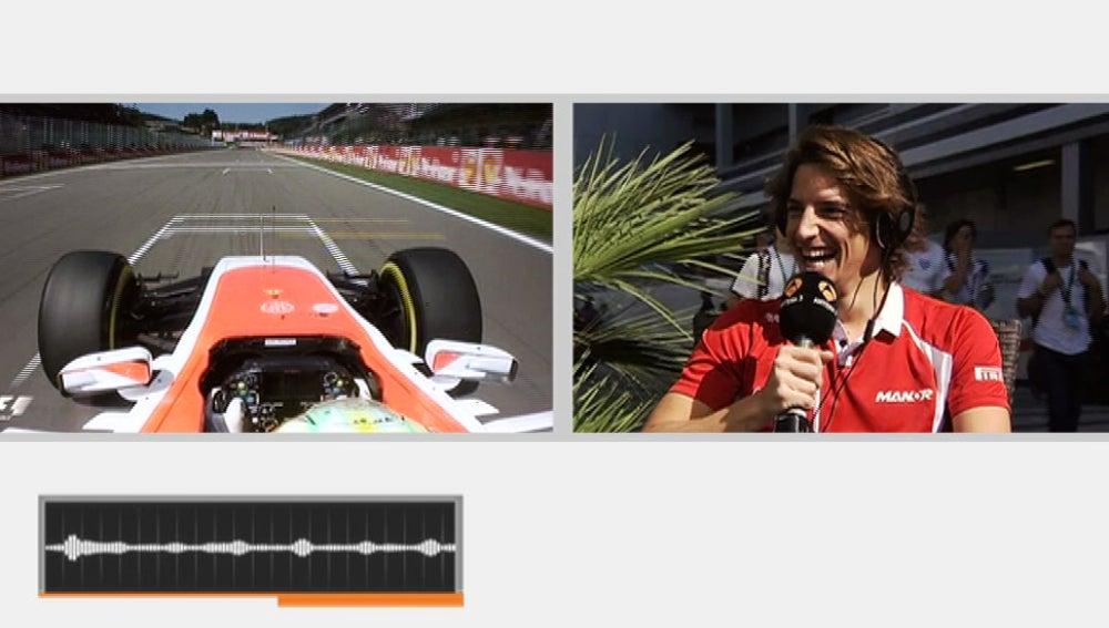 Merhi, en la prueba del sonido