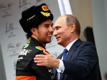 Sergio Pérez, con Vladimir Putin
