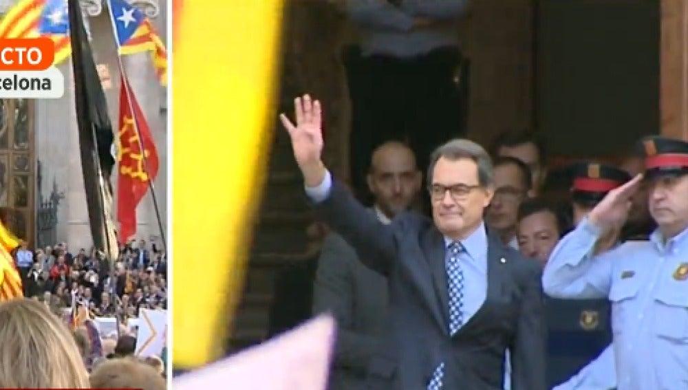 Artur Mas llega al TSJC