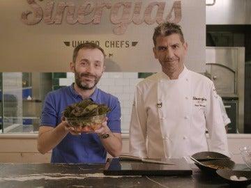 La ensalada de lechugas vivas de Paco Roncero.