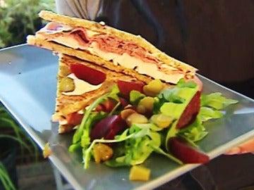 Un sándwich al más puro estilo americano