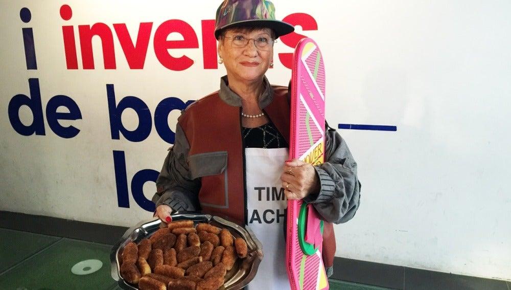La abuela Conchita, con su aeropatín y sus croquetas.