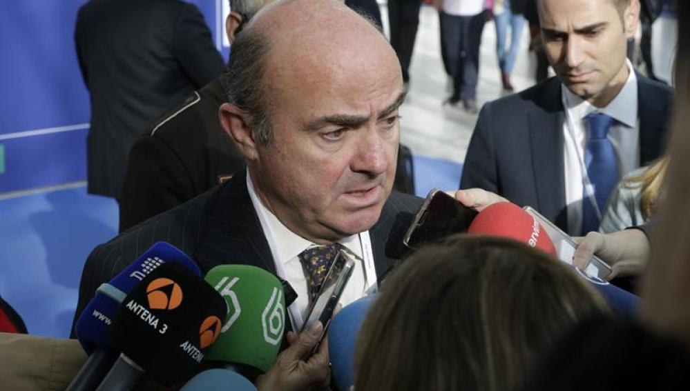 El ministro de Economía, Luis de GuindosEl ministro de Economía, Luis de Guindos