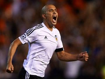 Sofiane Feghouli durante un partido con el Valencia