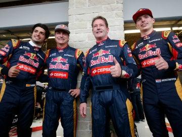 Las familias Sainz y Verstappen, unidas