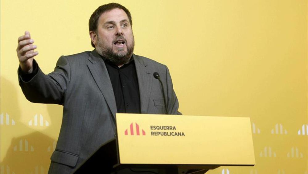 Oriol Junqueras durante la celebración del Consejo Nacional de ERC