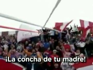 """Aficionados argentinos gritan """"la concha de tu madre"""""""