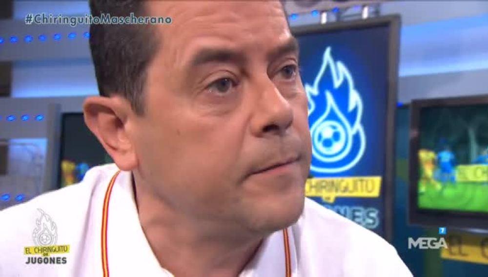 Tomás Roncero, indignado con el Barça en 'El Chiringuito de Mega'.