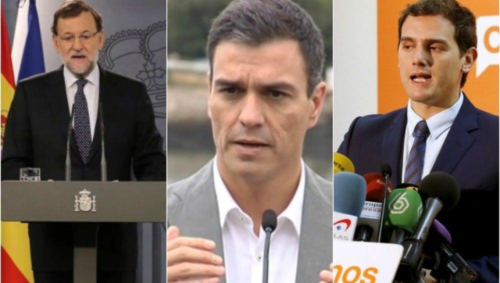Rajoy, Sánchez y Rivera