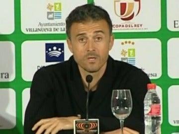 Luis Enrique, en sala de prensa