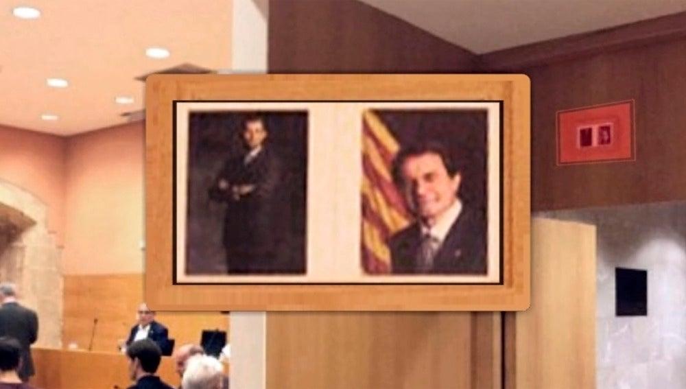 Foto del Rey y de Mas tamaño carné en el ayuntamiento de Torredembarra