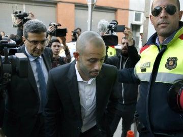 Javier Mascherano llega a los juzgados