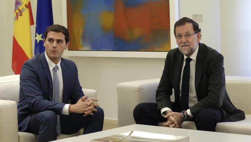 Rajoy y Rivera en la Moncloa