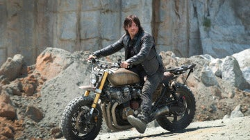 Daryl con su moto en 'The Walking Dead'