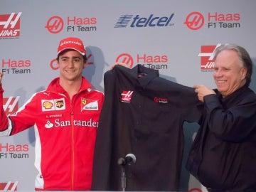 Gutiérrez, en su presentación con el equipo Haas