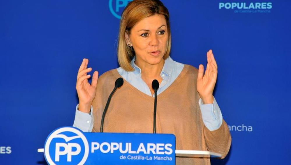 La secretaria general nacional del PP, María Dolores de Cospedal