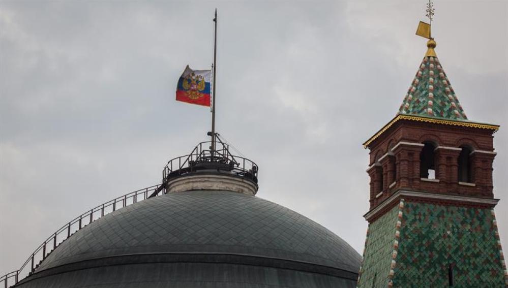 Banderas a media asta en señal de duelo en Rusia