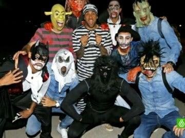 Los jugadores del Barcelona, disfrazados para Haloween