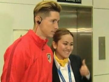 Fernando Torres, a su llegada a Kazajistán