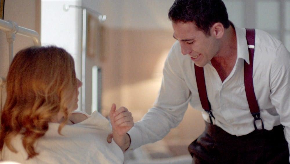 Alberto y Cristina en el hospital