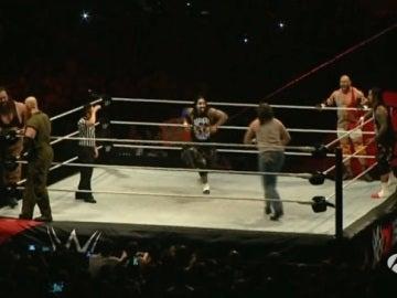 Luchadores de la WWE en el Palacio de los Deportes