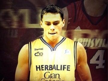 Kyle Kuric, con el uniforme del Gran Canaria