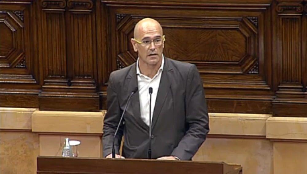 Raül Romeva en el Parlament