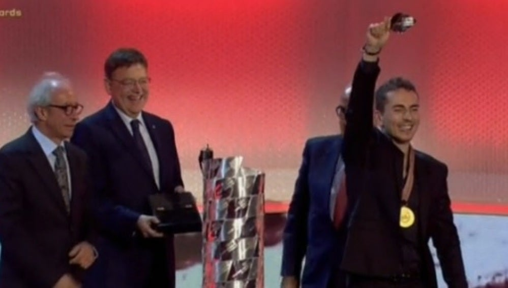 Jorge Lorenzo, en la gala de la FIM