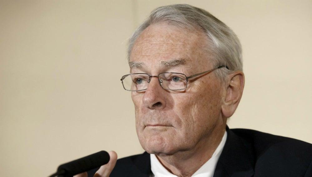 El presidente de la Comisión Independiente de la Agencia Mundial Antidopaje (AMA), Richard Pound